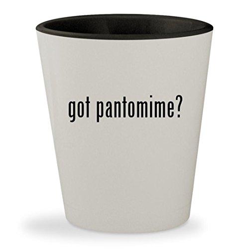 got pantomime? - White Outer & Black Inner Ceramic 1.5oz Shot Glass