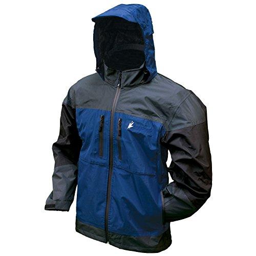 Frogg Toggs Toadz Anura Rain Jacket, Dust Blue/Slate/Black, Size X-Large