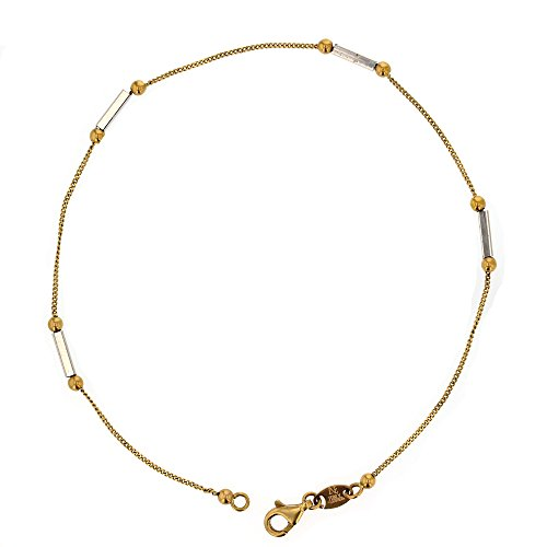 Anklet. 14Kt White And Yellow Gold Anklet ()