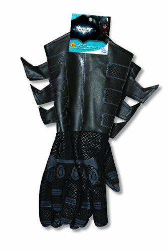 Batman The Dark Knight Rises Batman Gauntlets Costume, Black, One (Batman Costumes Adult)