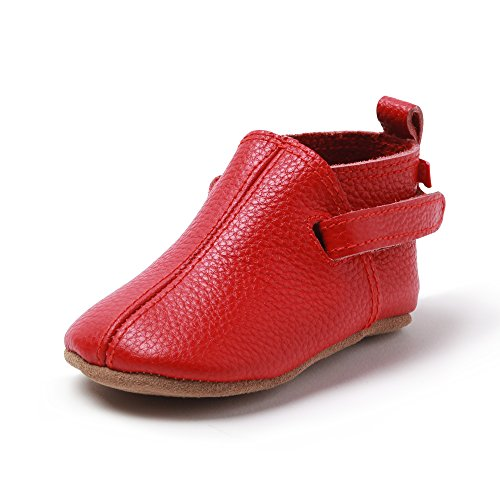 Baby Leather Unisex Shoes Zutano Red Baby qHATcU