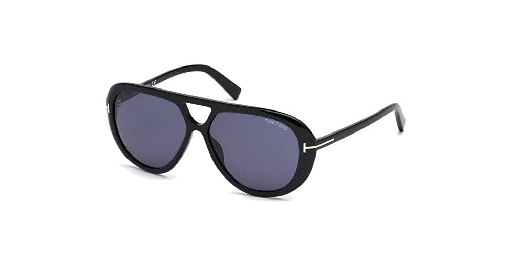 44c2c35b50d Tom Ford FT0510 01V Shiny Black Marley Pilot Sunglasses Lens Category 3  Size 59 at Amazon Men s Clothing store