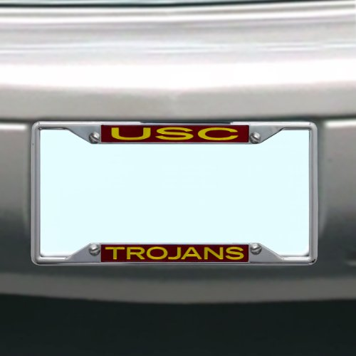 NCAA USC Trojans License Plate Frame (Metal Usc)