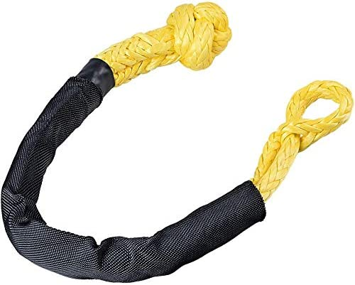 Kubaka Synthetic Soft Yellow Shackle 1//2 X 22 Inch Rugged Off Road Shackles Maximum Break Strength with Protective Sleeve for Off-Road Towing Jeep Vehicle Recovery Yellow, 1-Pack 41,000 lbs