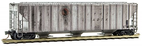 Micro-Trains MTL N-Scale Covered Hopper Great Northern/GN Weathered #172077