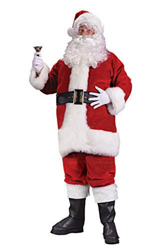 [Mememall Fashion Regency Plush Santa Suit Plus Size Halloween Costume] (Latex Wolf Suit)