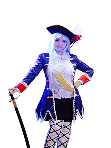 Crossdressing Halloween Costumes (Mtxc Women's Hetalia: Axis Powers Cosplay Prussia Cross-Dressing Ver. Size Large Blue)