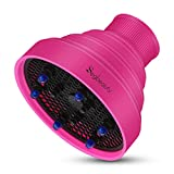 Blow Dryer Diffuser for Travel, Segbeauty Professional Hairstyling Foldable Hair Diffuser for Natural