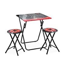 Disney Star Wars Darth Vader Tween Folding Table & Stool Set (3 Piece)