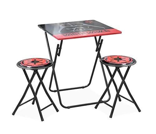 Disney Star Wars Darth Vader Tween Folding Table & Stool Set (3 Piece) ()