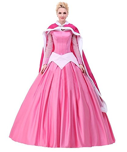 Gothic Sleeping Beauty Costume (Princess Costume For Women Adult Halloween Party Palace Queen Prom Deluxe Dress (XL))