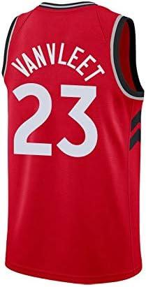 de Secado r/ápido Deportes Camiseta sin Mangas XS-XXL Color : D, Size : S LDFN Jersey Baloncesto Baloncesto Jersey 23 Fred Vanvleet Competencia Raptors de Toronto Traje