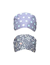 TENDYCOCO Scrub Caps 2pcs Cotton Adjustable Unisex Surgery Hats Surgical Caps Working Hats