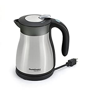 Chef's Choice 691 International Keep Hot Thermal Electric Kettle, 1.2 L, Stainless Steel