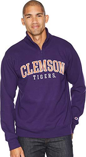 - Champion College Men's Clemson Tigers Powerblend¿ 1/4 Zip Champion Purple Medium