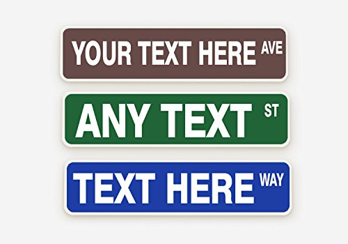 BleuReign(TM) Personalized Custom Aluminum Street Sign 4