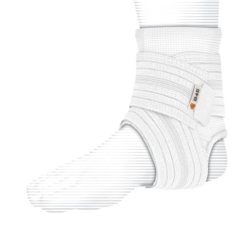 Shock Doctor Ankle Sleeve with Compression Wrap Support (White, Small)