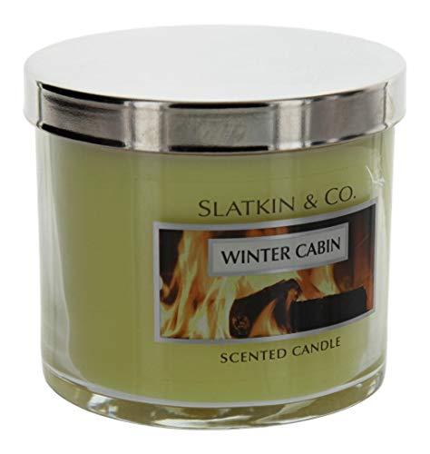 - Slatkin & Co. Winter Cabin Scented Candle 4.0 Oz.