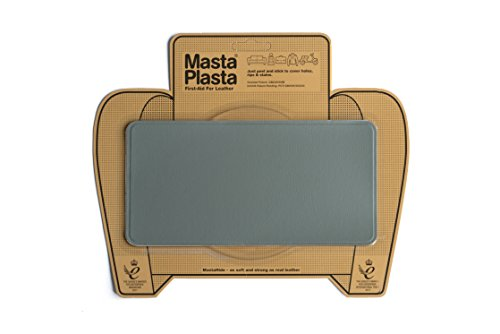 MastaPlasta, Leather Repair Patch, First-aid for Sofas, Car Seats, Handbags, Jackets, etc. Grey Color, Plain 8-inch by 4-inch, Designs (Finest Italian Design Furniture)