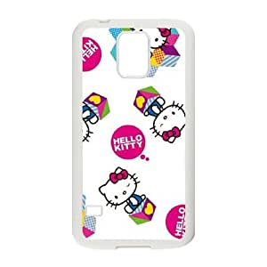 Samsung Galaxy S5 Phone Case White Hello Kitty Expressions MK3G9TNK Fashion Cell Phone Cases