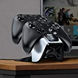 Bionik Power Stand Xbox Controller Charger Station: Store and Fast Charge 2 Wireless Xbox One/S/Elite Controllers, Power Adapter and 2 Battery Packs Included, Back Lit Status Indicators