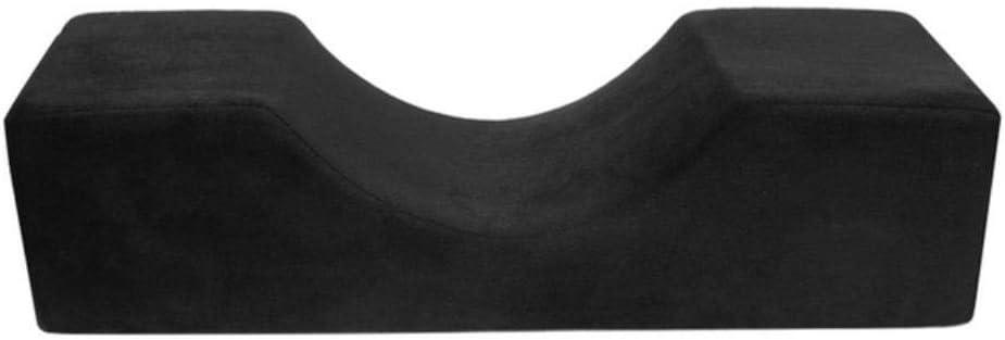 Jszzz Almohada Impermeable Profesional Forma injertado extensión de la pestaña del latigazo de la Almohadilla U Almohada ergonómica Memoria Almohada Maquillaje el Uso del salón, Negro