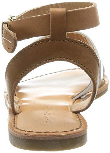Tommy Hilfiger JULIA 34A - Sandalias de vestir de cuero para mujer marrón - Braun (SUMMER COGNAC/WHISPER WHITE/L 929)