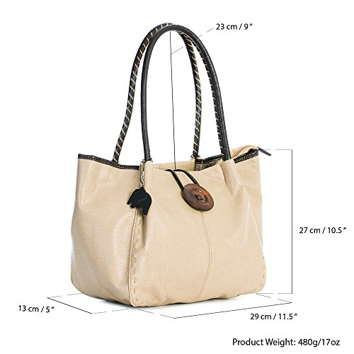 One BHSL Shop Handbag sintético Grey al mujer hombro de para Bolso Big Light zfC4qC