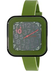 Nixon Rocio Surplus Digital Square Green Silicone Womens Watch A1621048