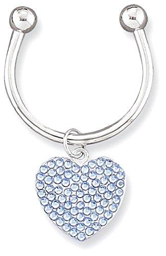 IceCarats Light Blue Swarovski Crystal Key Ring