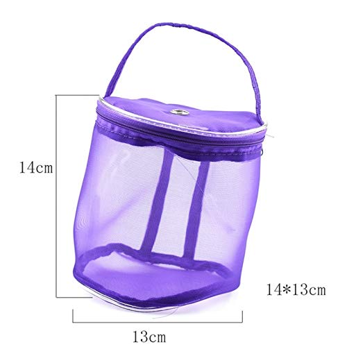 Storage Basket - 2 Size Yarn Case Storage Baskets Knitting Round Plastic Bags On Traveling Keep Yarns Away From Cats - Circle Trunk Tall Organizer Wheels Height Rectangular Hyacinth Fruit