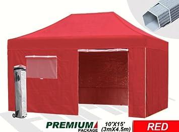Eurmax Tente pavillon haut de gamme avec murs latéraux Repliable Sac ...