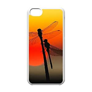 Custom Colorful Case for Iphone 5C, Dragonfly Cover Case - HL-R668570