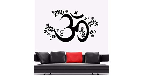 Etiqueta de la pared de yoga Om mantra yoga hinduismo vinilo ...