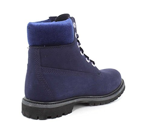 Timberland Womens Velvet-Accent Premium Waterproof Boot Navy