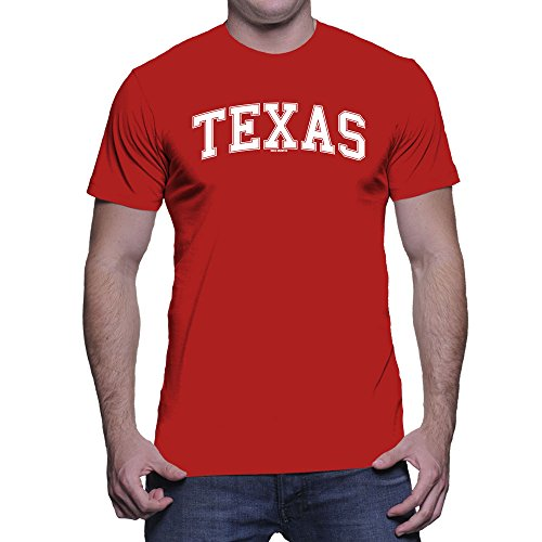 HAASE UNLIMITED Men's Texas State T-Shirt (Red, Large)