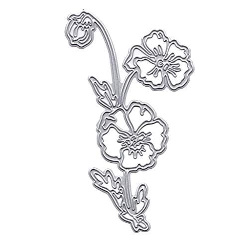 Topgee Metal Cutting Stencils Happy Birthday Words Animal Die Stamps Embossing Stencil for Crafts New Decoration Silver Metal Mold Decoration Letter and Number Tree and Flower Shape Mould