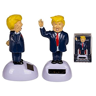 Puckator Solar Pal The President- Dancing Solar Toy - Car Desktop Office - Fun Toy - America - USA: Home & Kitchen