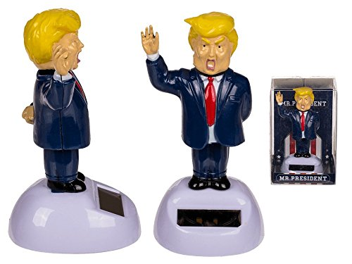 Solar Pal The President- Dancing Solar Toy - Car Desktop Office - Fun Toy - America - USA- Cool Gift