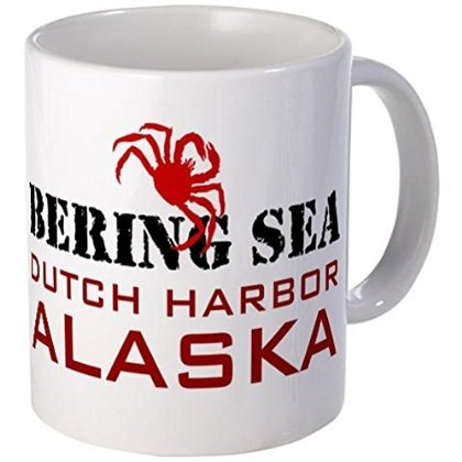 - 11 ounce Mug - Dutch Harbor Alaska Deadliest Catch Mug - S White