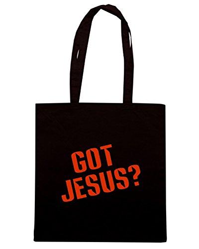 T-Shirtshock - Bolsa para la compra FUN0335 130d got jesus decal 69697 Negro