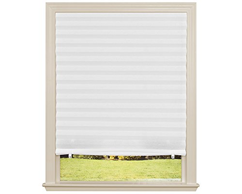 Original Light Filtering Pleated Fabric Shade White, 36' x 72'