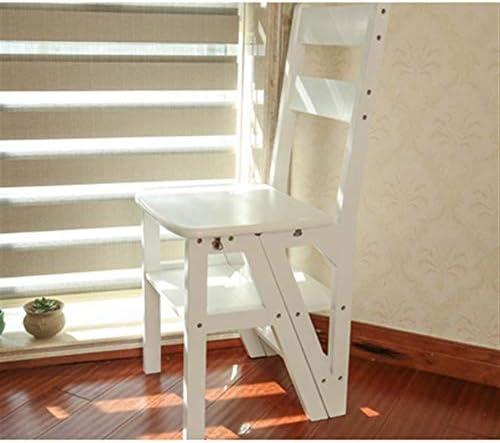 XuQinQin Sólido de Paso de Madera heces Inicio Silla Escalera multifunción heces Espesar Ascendente Escalera Escalera (Color : White): Amazon.es: Hogar
