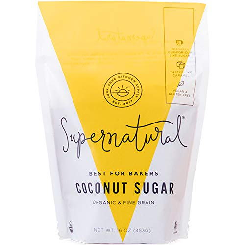 Organic Coconut Sugar by Supernatural | Natural | Low Glycemic Sugar Substitute | 1 Pound