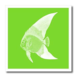ht_164939_3 InspirationzStore Vintage Art - Bright Green tropical fish - Exotic modern sea ocean aquatic biology - Iron on Heat Transfers - 10x10 Iron on Heat Transfer for White Material