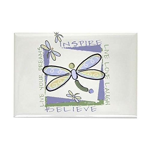 CafePress Inspire Dragonflies Rectangle Magnet Rectangle Magnet, 2