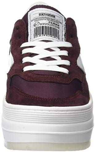 Burdeos C43915 Sneakers Milda Basses 79893 Seven Burdeos Nylon Femme Sixty Rouge pfxqO0wv4