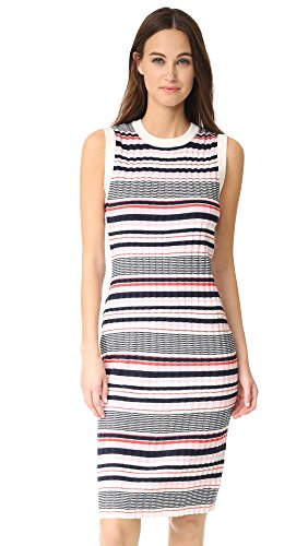 cupcakes and cashmere Women's Walton Stripe Dress, Cotton Candy, Large