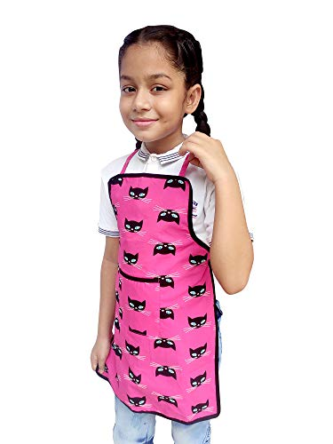 Switchon Kids Cotton Apron for Painting Cooking and Crafting