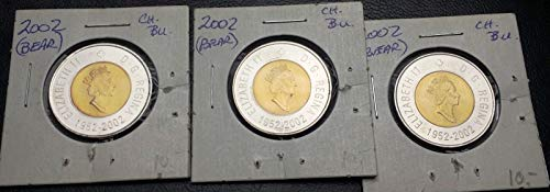 - LOT OF 3X CANADA 2002 TWO DOLLAR TOONIES ***CHOICE BU CONDITION*** POLAR BEAR